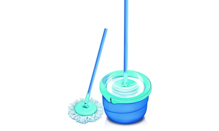 Spontex Full Action Microfibre Fringe Spin Mop with Mop Refills