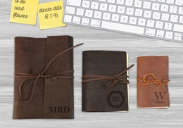 Custom Genuine Rustic Leather-Bound Journals (Up to 83% Off)