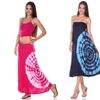 Tie-Dye High-Low Convertible Maxi Dress