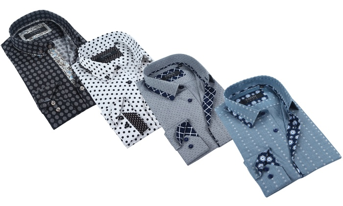 Coogi Luxe Men's Cotton Button-down Dress Shirt