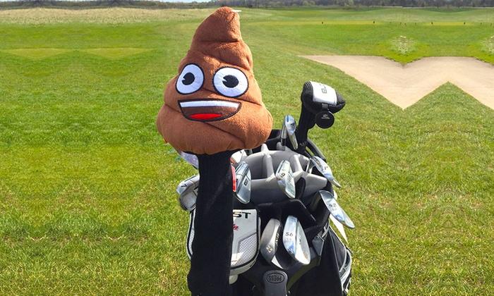 Groupon Goods Global GmbH: OfficialEmoji Poop Golf Set