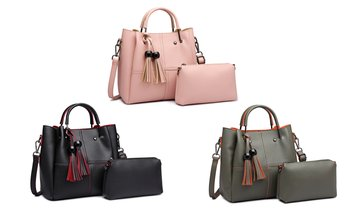 Miss Lulu Bucket Handbag Set