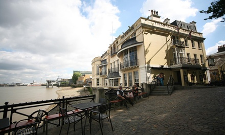 TwoCourse Meal with Drinks for Two at Trafalgar Tavern in Greenwich