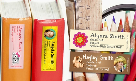 Personalised Children's Name Labels from AED 49 (Up to 70% Off)