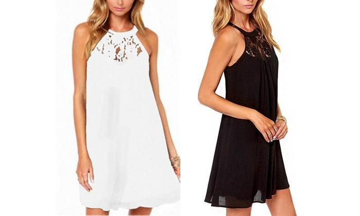 0d3c23d71b43 Halterneck Summer Dress | Groupon Goods