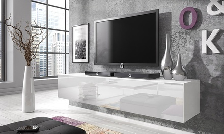 floating gloss tv cabinet groupon goods. Black Bedroom Furniture Sets. Home Design Ideas