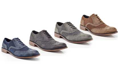 image placeholder image for Henry Ferrera Men\u0027s Two-Tone Casual Oxford Shoes