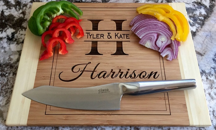 Qualtry: One, Two, Three, Four, or Five Personalized Bamboo Cutting Boards from Qualtry (Up to 60% Off)