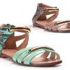 Sasha New York Flat Snakeskin Sandal