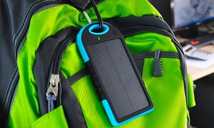 1 ou 2 batteries solaires portables étanches, capacité de 5000 mAh