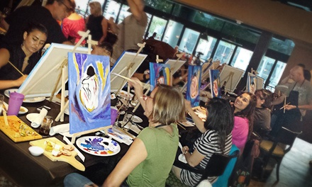Happy-Hour Painting Class for One, Two, or Four from LivingArt Social             (Up to 65% Off)