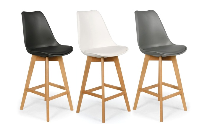 lot de 4 tabourets de bar scandinave bovary groupon shopping. Black Bedroom Furniture Sets. Home Design Ideas