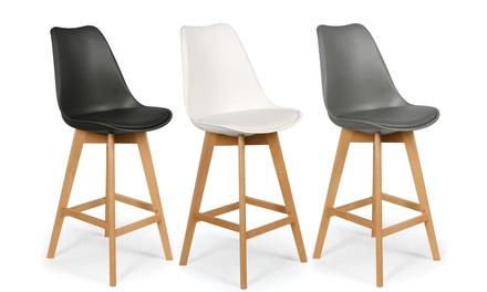 lot de 4 tabourets de bar scandinave bovary groupon shopping. Black Bedroom Furniture Sets. Home Design Ideas