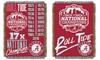 Alabama Crimson Tide 2016 NCAA Football National-Champs Tapestry Throw: Alabama Crimson Tide 2016 NCAA Football National-Champions Tapestry Throw Blanket