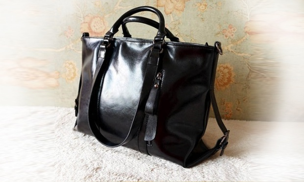 $59 for a Genuine Leather Shoulder Handbag