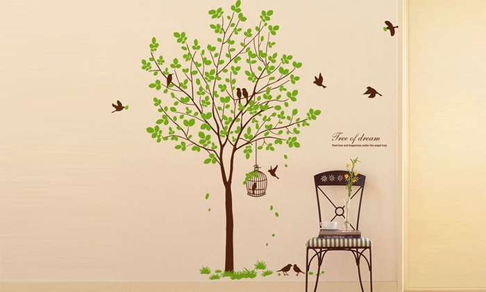 Tree Wall Vinyl Art Home Decal Groupon Goods