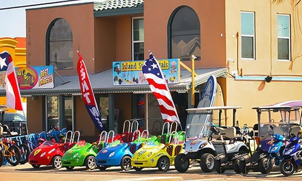 One-Hour Scooter, Golf Cart, or Scoop Coop Scooter Rental at SPI Fun Rental & Island Surf Rental (Up to 42% Off)