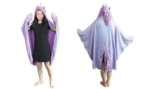 Unicorn-Design Hooded Blanket