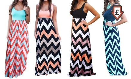 Summer Patterned Boho Maxi Dress
