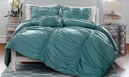 Madeira Ruched Queen or King Comforter Set (4-Piece)