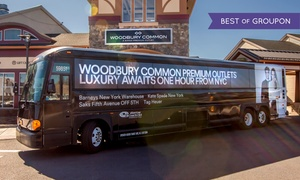 ShortLine/Coach USA: $25 for Round-Trip Service to Woodbury Common Premium Outlets from ShortLine/Coach USA ($42 Value)