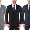 Verno Men's Slim-Fit Windowpane Suit (2-Piece)