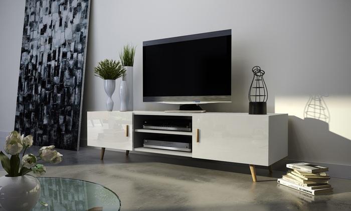 Tv Meubel Beuken Kleur.Tv Meubel In Scandinavische Stijl Groupon
