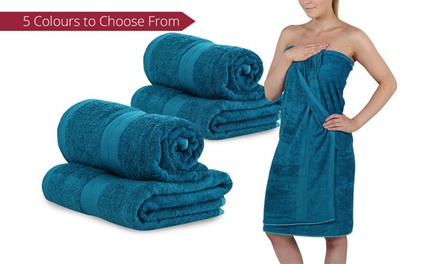 $39 for Four Giant Bamboo Bath Towels in Choice of Colours