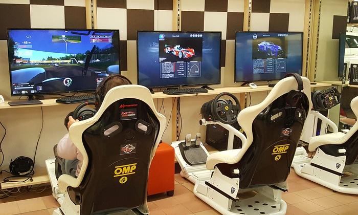 Gran premio su simulatore per gareggiare con prove libere e attestato al centro D2D Simulation (sconto fino a 57%)