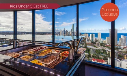 for an AllYouCanEat Seafood Buffet at Awarded Four Winds 360° Revolving Restaurant Value