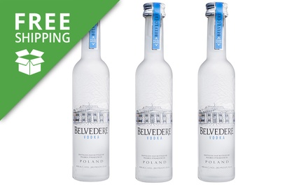 Free Shipping: $49.95 for Three Bottles of Belvedere Vodka Limited Edition 50ml
