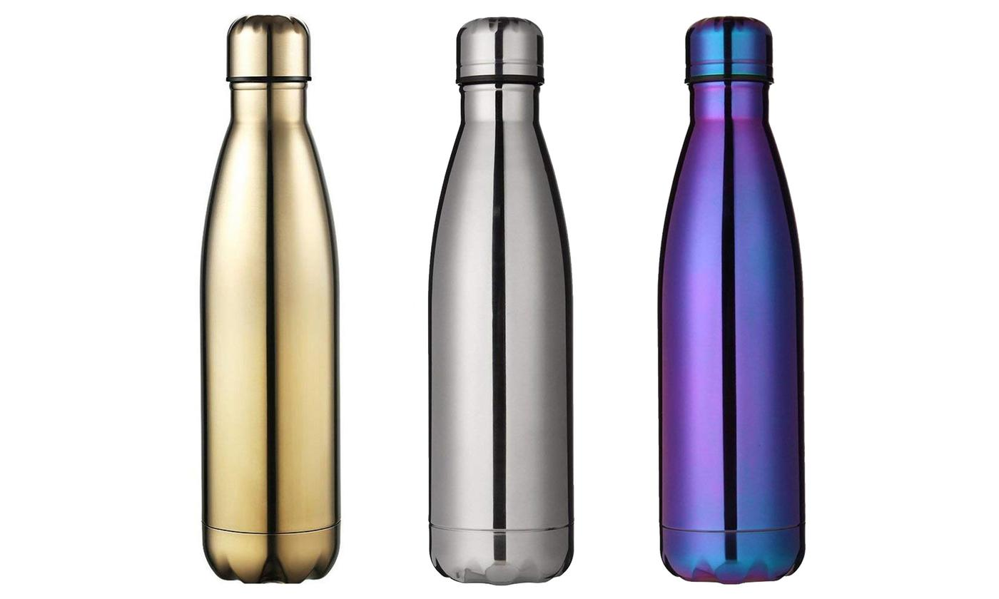Double-Walled Stainless Steel 500ml Water Bottle