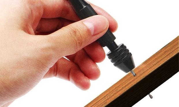 11 Piece Mini Aluminium Hand Drill: One ($12) or Two ($19)