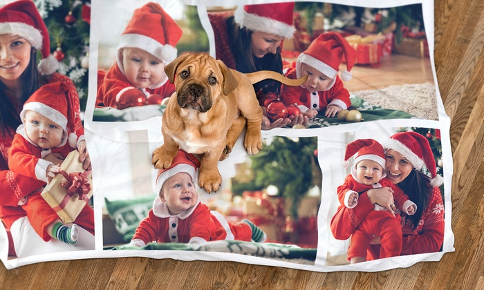 Photo Collage Blanket or Custom Play Blanket from Dinkleboo (Up to 84% Off)