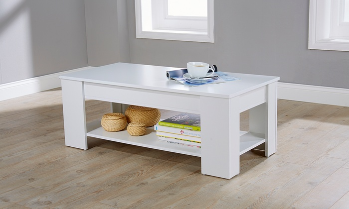 Lift top coffee table groupon for Nfpa 72 99 table 7 3 1