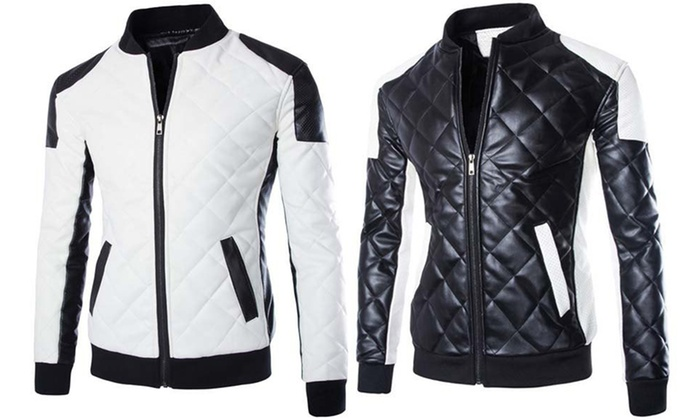 Homme Shopping Style Groupon Blouson Motard dq17T07nw