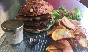 L'italo America: Burger rossini et frites maison pour 2 ou 4 personnes dès 21,90 € au restaurant L'italo America