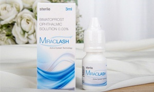 Miraclash (Generic Latisse) Eyelash Growth Serum Kit for 4-20 Weeks