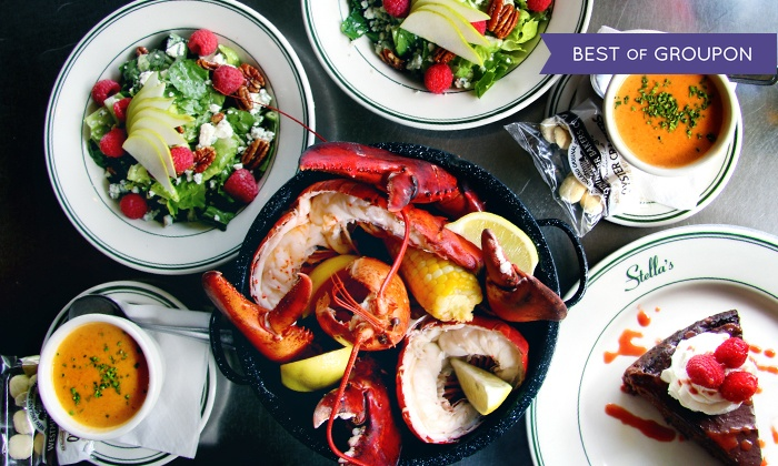Four course lobster bake for two stella 39 s fish cafe for Stellas fish cafe