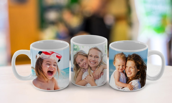 CanvasOnSale: One, Two, Three, or Four Personalized Photo Mugs from CanvasOnSale (Up to 84% Off)