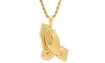 18-Kt Gold-Plated Praying Hands Necklace