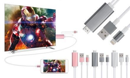 Câble HDMI Adaptateur pour tous iPhone et iPad pour visualiser ses contenus