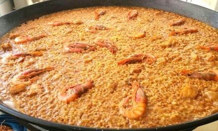 Menú de arroces para 2 o 4 con entrante, principal de arroz, postre y botella de vino desde 19,90 € en La Mascletà