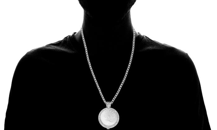 Uni Silver Eagle Coin Cuff Bracelet Size 8 Large
