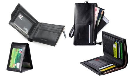 412ec3960c7 Leren portemonnees in 7 modellen en diverse kleuren naar keuze vanaf € 9,99  tot