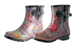 Nomad Footwear Women's Paisley-Printed Rain Boots