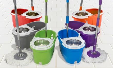 Wischmop Mega Spin Mop Bodenwischer mit Schleuder und Spühlfunktion in der Farbe nach Wahl