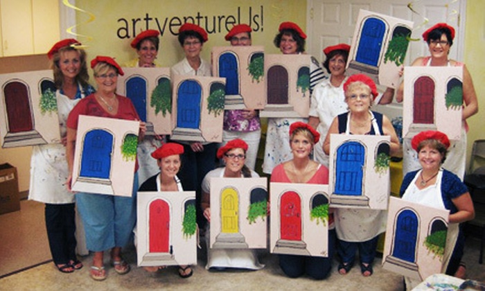 artventureUs! - Gaithersburg: Adult Painting Class for One or Two at artventureUs! (Up to 51% Off)