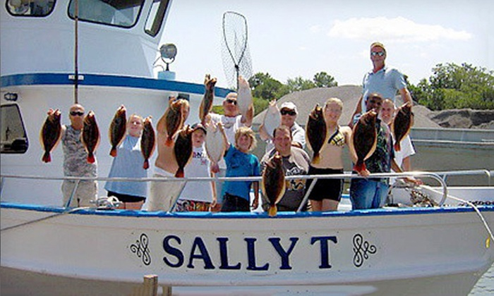 Sally T. Charter Fishing Boat - Norfolk: Half-Day Fishing Trip for Two from Sally T. Charter Fishing Boat (50% Off)