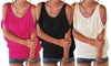 Groupon Goods Global GmbH: Cut-Out Shoulder Jersey Top in Choice of Colour
